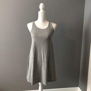 Grey, Cotton Racerback Sundress